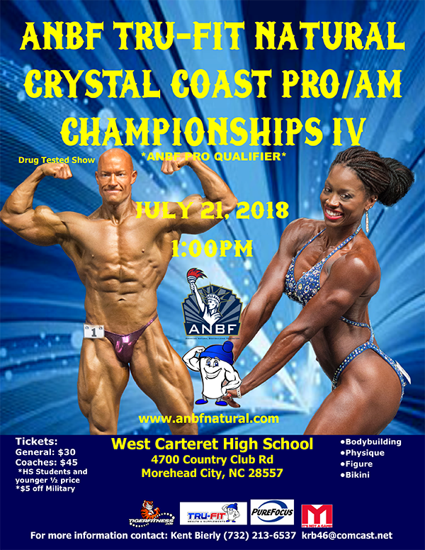 2018 Contest Schedule - American Natural Bodybuilding
