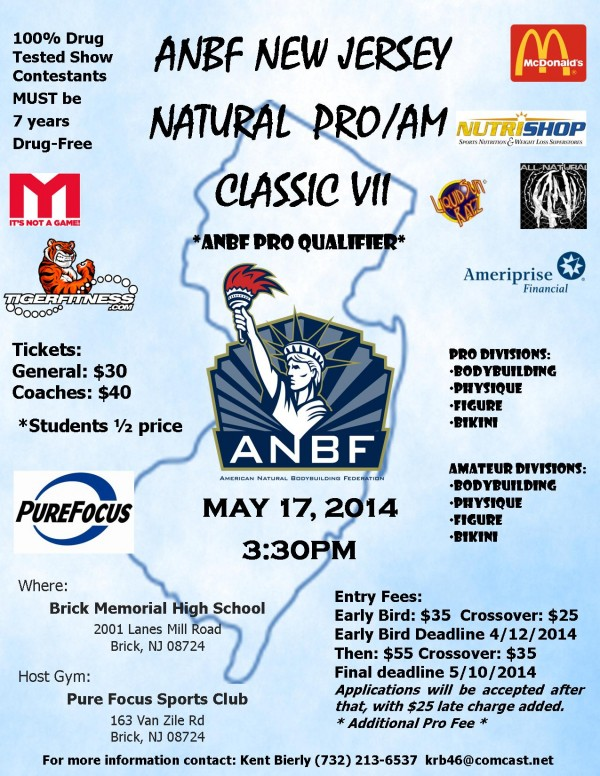 2014 ANBF NEW JERSEY NATURAL PRO/AM CLASSIC RESULTS