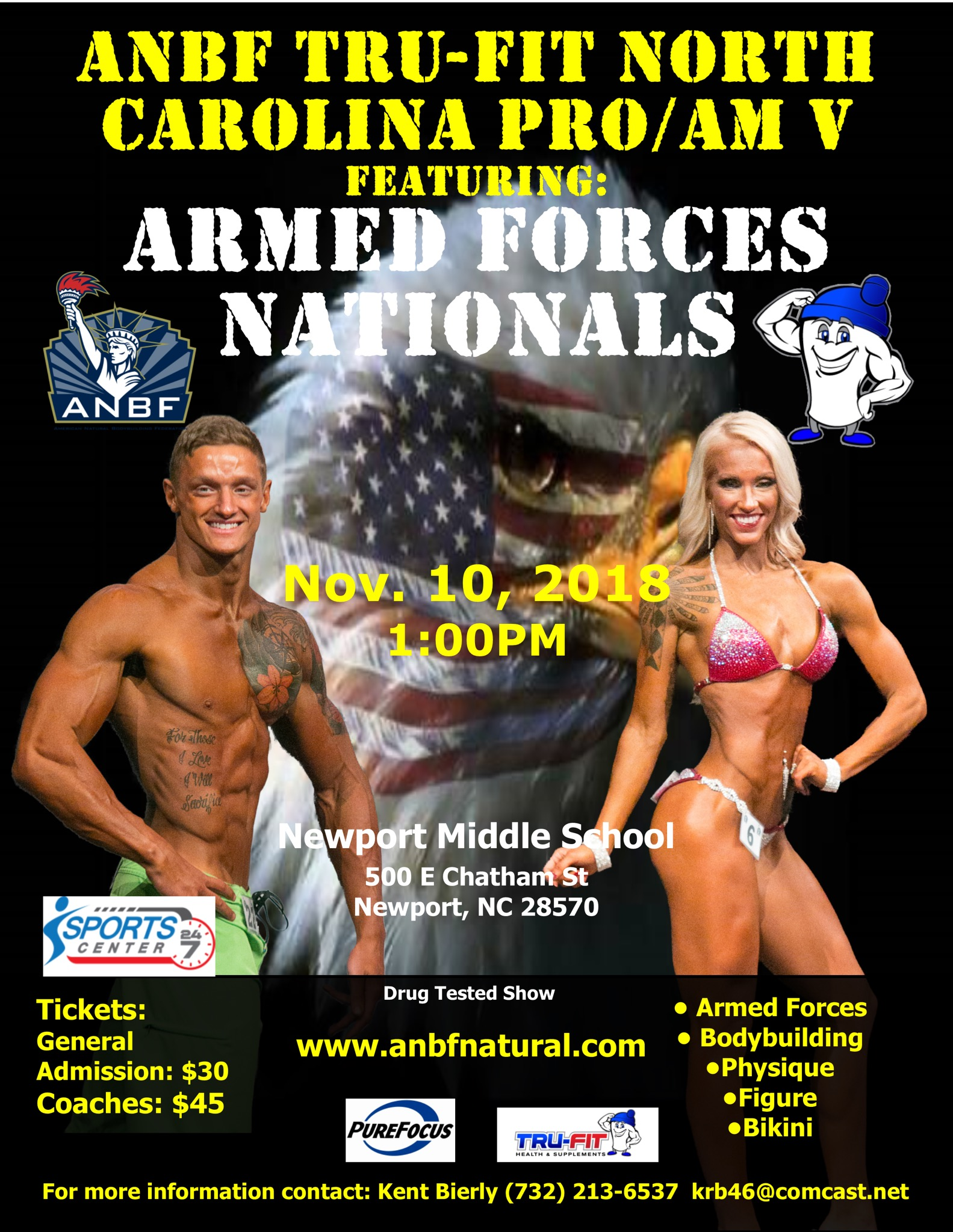 2018 Contest Schedule - American Natural Bodybuilding Federation - ANBF